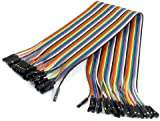 SODIAL(R) Female to Female Solderless Flexible Breadboard Jumper Cable Wire 40 Pcs