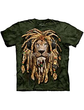 The Mountain Unisex Kinder DJ Jahman Rasta L�we T Shirt