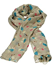 Fifi Dog Print Scarf Celebrity Designer Scarf Womens Scarf Shawl Wrap Ladies Long Scarf - SWANKYSWANS