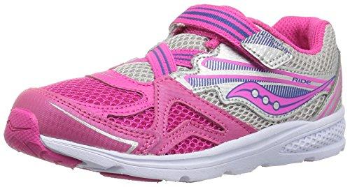 Saucony Baby Girls Ride Running Shoe, Pink, 9.5 Medium US Toddler (Kleinkind Schuhe -, Saucony)