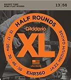 D\'Addario Cordes à filet demi-rond pour guitare électrique D\'Addario EHR360, Jazz Medium, 13-56