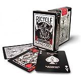 Cartas Bicycle black tiger rojo y blanco