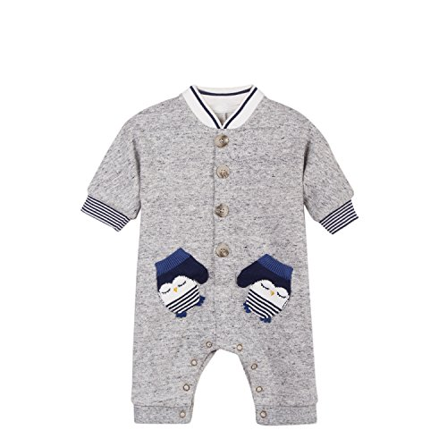 Catimini Catimini Baby-Jungen Bekleidungsset Combinaison Pour, Grau (Light Grey 21) 3-6 Monate (Herstellergröße: 3M)