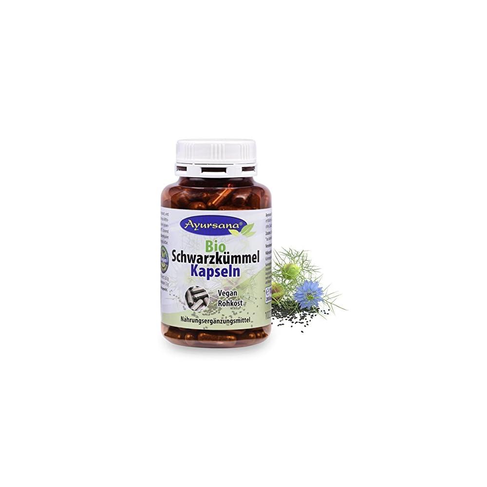 Ayursana Vegane Bio Schwarzkmmel Kapseln 200 Stck