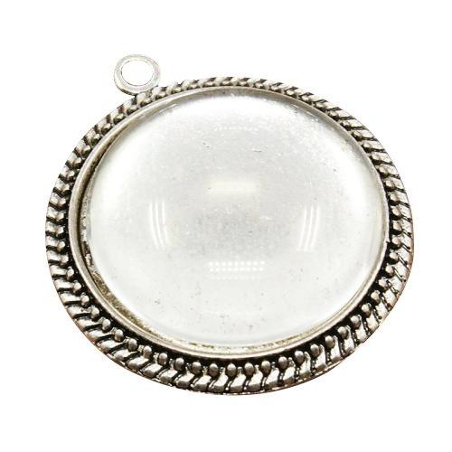 pandahall-10-set-25mm-cabochon-vetro-ciondoli-cabochon-portafoto-cupola-trasparente-colore-argento-a