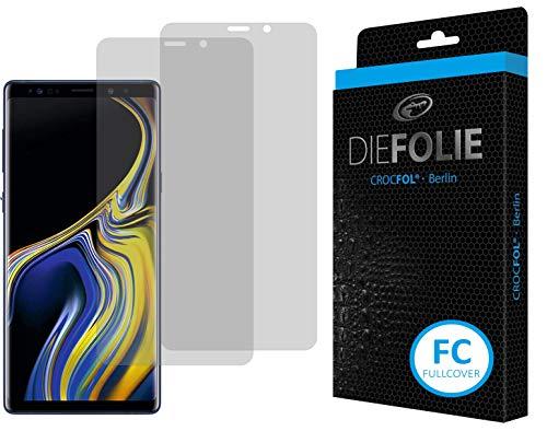 Crocfol Bildschirmschutz für Samsung Galaxy Note 9: 2x DIEFOLIE Schutzfolie, 1x DASFLÜSSIGGLAS flüssiges Glas - Fullcover Folie zur Nutzung ohne Schutzhülle
