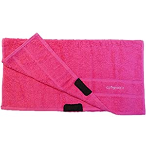 Trainings Handtuch Magnatic ® Fitnesshandtuch mit Magnet zur Hygiene und Komfort beim Training (Pink)
