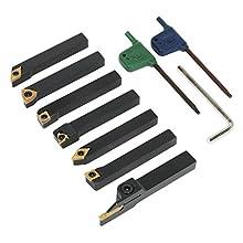 Sealey SM3025CS5 Indexable 8mm Lathe Turning Tool Set 7pc