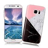 Coque Samsung Galaxy S7 XiaoXiMi Etui en Marbre Texture Housse de Protection Soft TPU Silicone Case Cover Coque Flexible Lisse Etui Ultra Mince Poids Léger Housse Anti Rayure Anti Choc pour Samsung Galaxy S7 - Géométrique