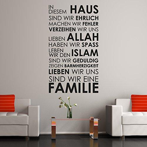 A460 | Meccastyle | Islamische Wandtattoos - In diesem Haus... - L - 65cm x 115cm- 02. Grau