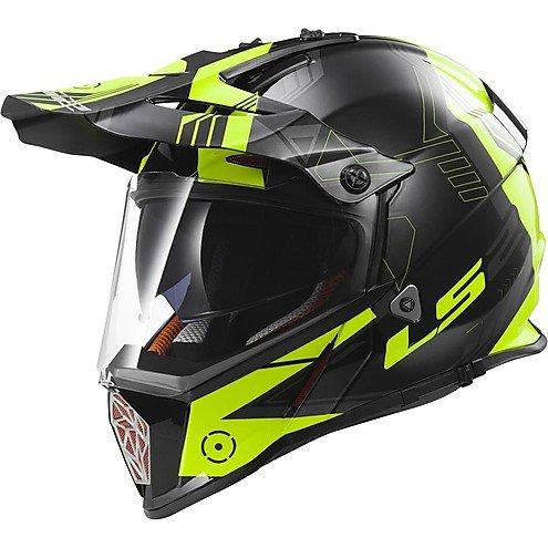Preisvergleich Produktbild Helm Moto Cross Enduro LS2 MX436 Pioneer Trigger schwarz / weiß / hi-vision Extra Extra Large