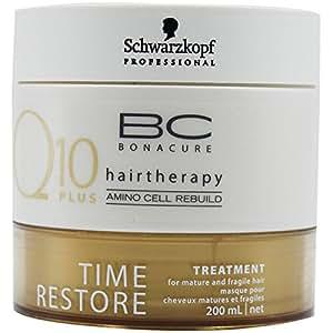 Schwarzkopf Professional - Masque Anti-Age pour Cheveux - Volume et Vitalité - Q10 Time Restore Kur - 200 ml