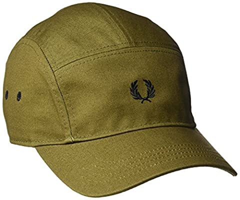 Fred Perry Cotton Twill 5 Panel Baseball Cap in Military Green