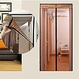 EQEQ Sommer magnetschirm Tür, Full Frame Klettverschluss Moskito - Betten Schlafzimmer Home Snap automatisch Heavy Duty Mesh-Sieb-A 140 x 220 cm (55 x 87 Zoll)