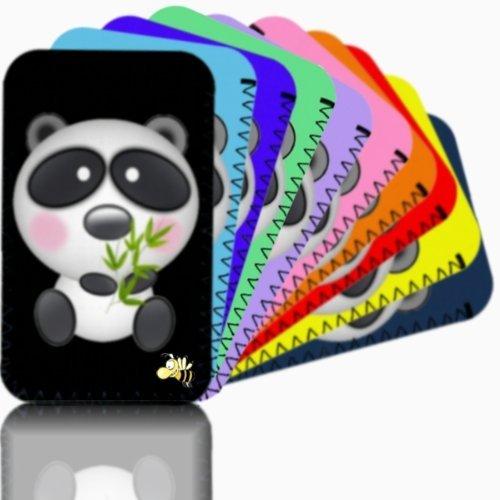 """Biz-E-Bee Phonecase Exclusif """"Cute Panda New iPhone 5téléphone portable résistant aux chocs en néoprène, Housse, Pochette–Beaucoup de couleurs disponibles–Royaume-Uni noir"""