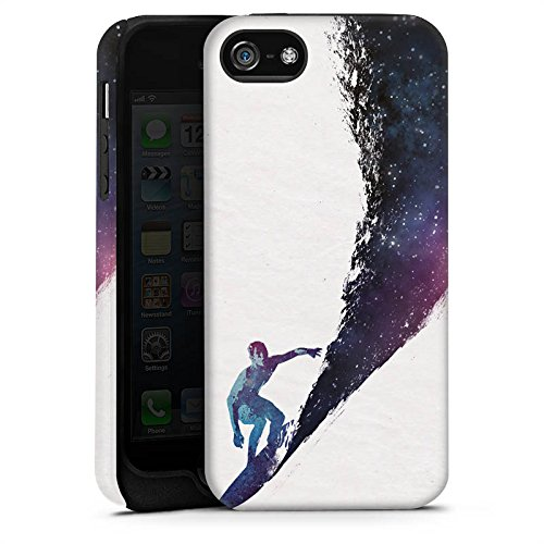 Apple iPhone X Silikon Hülle Case Schutzhülle Surfer Universum Welle Tough Case matt