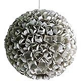 Grey Pearlflower, graue Lampe Lampenschirm Hängeleuchte Hängelampe Papierlampe Reispapierlampe Designerlampe Wohnzimmerlampe Schlafzimmerlampe Deckenlampe