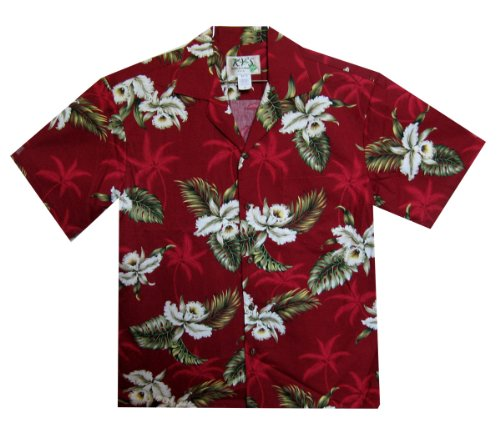 Hawaiihemd, Größe 3XL, rot (Honolulu Shirt Hawaiian)