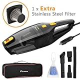 B-Creative Corded Car Vacuum Cleaner,DC 12V 120W High Power,Wet Dry Portable Auto