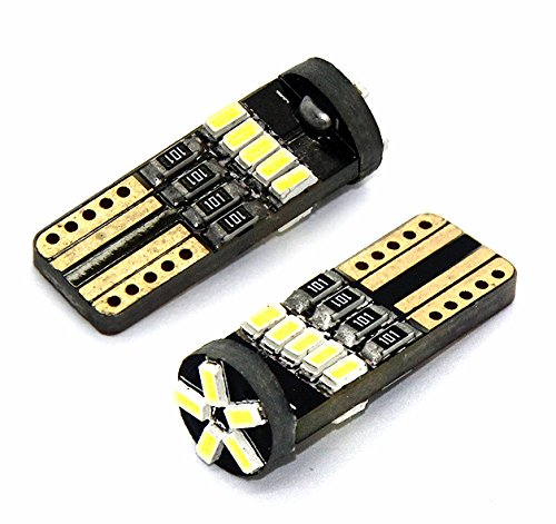 Preisvergleich Produktbild 2x LED LAMPEN 16 x 3014 SMD XENON WEISS CANBUS T10 W2.1x9.5d 12V 2 STÜCK Leselicht Kennzeichen- Innen- Fußraumbeleuchtung