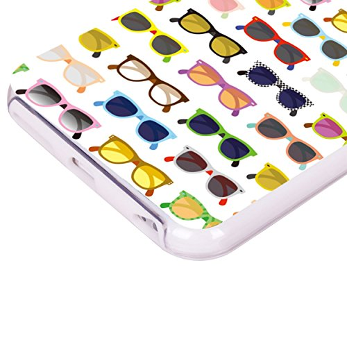 iPhone 6 6S Plus 14 cm Fall, Hülle, Case True Color® Colorful Hipster Sonnenbrille Slim Hybrid Hard Back + weich TPU Bumper Schutz Langlebig [True Schützen Serie] + kostenlosem Stylus und Displayschut weiß