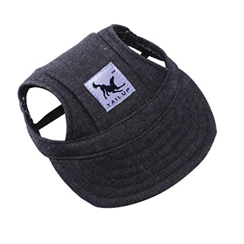 Baseball-hüte Deckel (LHWY Kleine Haustier Hund Baseball Mütze Sommer Visier Hut Welpen Outdoor Deckel Leinwand Camouflage Druck (S, K))