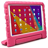 Samsung Galaxy Tab A 10.1 Funda de niños, COOPER DYNAMO Funda dura protectora para choques y uso pesado para niños con agarre de mano, estante trasero y protector de pantalla incluido (Rosa)