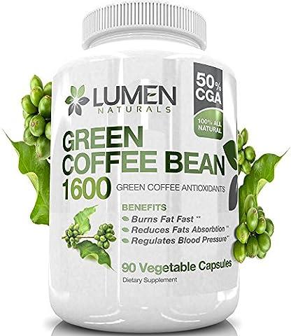 Grains de Café Vert Pur Extrait - Brûle-graisse de puissance