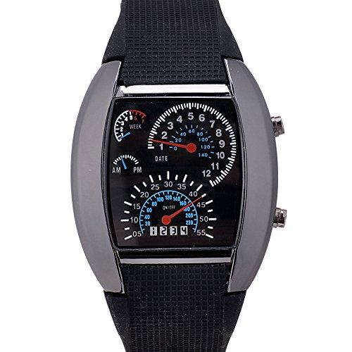AMPM24 LED Herrenuhr Damenuhr Armbanduhr Digital Sport Uhr LED037