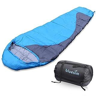 Schlafsack, Bluesim Leichter Umschlag-Schlacfsack, Deckenschlafsack mit Reißverschluss Indoor und Outdoor, Wasserdichter Baumwolle Sleeping Bag, Ideal für Camping, Wandern, Trekkingtouren