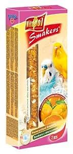Vitapol Orange Smakers Treat Sticks for Budgies includes 2 Sticks
