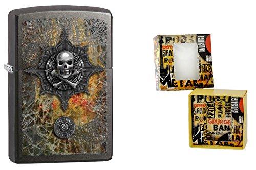 Zippo 15506accendino Anne Stokes Premium Gift Set, Special Edition, Color Image Skull logo, Choice Collection 2015/2016, articolo numero-60.001.418.4, Gray Dusk