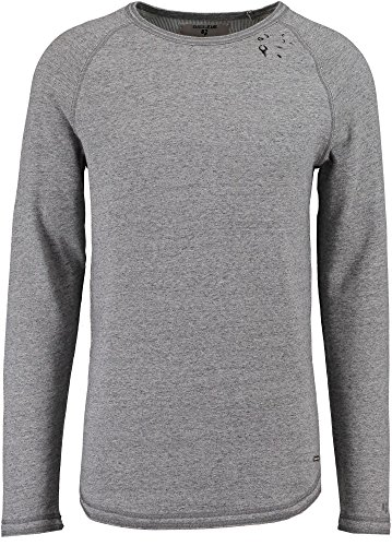 Garcia Jeans - Camiseta - Liso - Manga Larga - para Hombre (Gravel Melee 2556) XXXL
