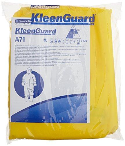 Preisvergleich Produktbild KleenGuard 96760 A71 Schutzanzug gegen Chemikalien-Sprühnebel (Overall mit Kapuze), 10-er Pack