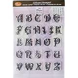 Alfabeto sellos de silicona grande, Clear Stamps–Sello, Juego, Juego de sellos, plástico sello letras