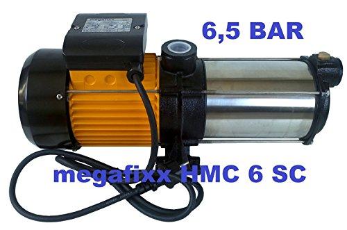 megafixx HMC6SC-G94174 Kreiselpumpe 1350 Watt bis 6,5 Bar + Güde 94174 Druckschalter - 4