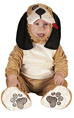 Baby Hund - Kostüm für Kinder Tier Karneval Fasching Braun Welpe Süß Gr. 74-92, Größe:86/92