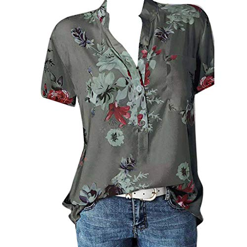 Cooljun 2019 New Damen BluseDamen Drucktasche Plus Size Kurzarm Bluse Easy Top Shirt (Sexy Patriotische Kostüm)