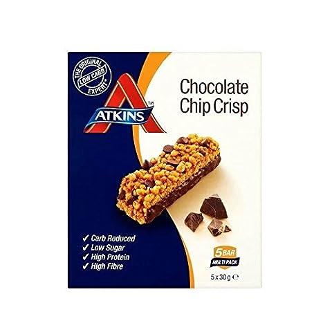 Atkins Daybreak Chocolate Chip Crisp Breakfast Bars With Sweeteners - 5 X 30 G