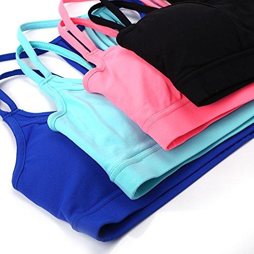 Soutien-gorge brassière de sport sous-vêtement de femmes pour fitness yoga course à pieds noir