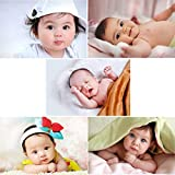 Giant Innovative Cute Baby's Poster for Pregnant Women (250 GSM Paper, 12x18-inch, Multicolour) -Combo Set of 5