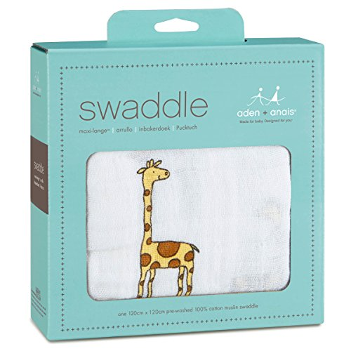 aden + anais 8904G Classic Single Swaddle Jungle Jam - Giraffe