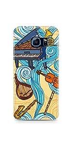 Music Illustration Samsung Galaxy S6 Edge Glossy Case