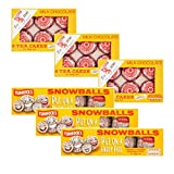 Tunnocks Tea Cakes Bundle | Milk Chocolate 3 X 6 X 24g | Snowballs 3 X 4 X 30g | for A Total of 6 Boxes