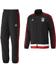adidas SLB PES Suit - Chándal para hombre, color negro / blanco / rojo, talla S