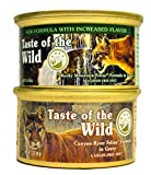 Taste of the Wild Cat Food Variety Pack Box - 2 Flavors (Rocky Mountain Feline with Salmon and Roasted Venison Formula & Canyon River Feline Trout and Salmon Formula) - 3 oz Each (6 of Each Flavor)