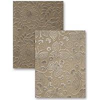 Spellbinders M-Bossabilities A2 Card Embossing Folder-Garden