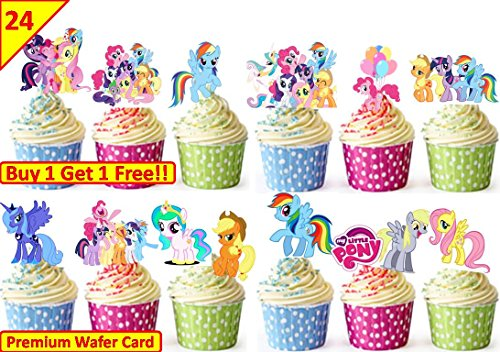 eburtstag Cup Cake Fairy Essbare Kuchendekoration Reispapier * Stand Up * (My Little Pony-cups)