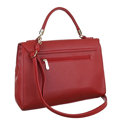 Borsa A Spalla Media Borsa Donna Ital-design In Similpelle Ta-a121 Rossa