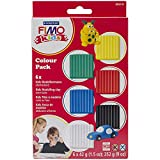 Staedtler 8032 01 - Fimo kids Materialpackung Colour Pack, basic, 6 x 42 g